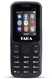 Tara T17 keypad Mobile Phone with 2 Sim Card Slot  Memory Card Slot - Black