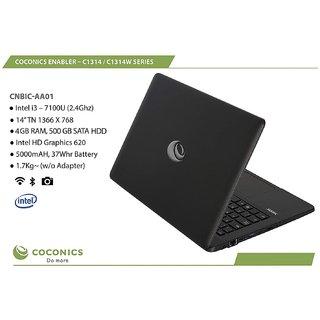 Coconics Enabler C1314   CNBIC Linux/Ubuntu Intel Core i3  7100 U  2.4 Ghz , 14 inches 35.56 cm  8  GB RAM/ 1 TB SATA HDD