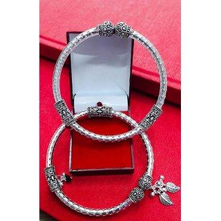 German Silver Designer Kada Anklet by Sparkling Jewellery