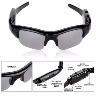 Homepro HD DVR 1080P Spy Glasses Hidden Security Camera Video Recorder