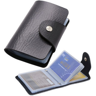 ATM Card Holder Leatherette 12 Card black or brown 1 piece only