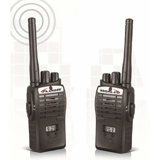 Wireless Unisex Walkie Talkie, Two-Way Radio Set Kids Portable Electronic Toy for Kids (Black)