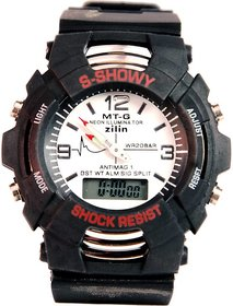 smlB Trendy S Shock Sports Dual Time Analog And Digital Watch For Boys