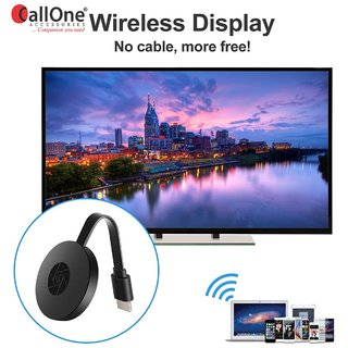 CallOne Chromecast WiFi Wireless Display Dongle for Miracast, Screen Mirroring, Airplay, DLNA, Netflix, Spotify Anycast