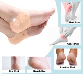 Snowpearl Unisex Silicone Daily Care Gel Pad For Heel Swelling, Free Size