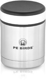 PE BIRDS Stainless Steel Double Wall Food Sambar Jar, 350ml