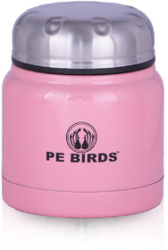 PE BIRDS Stainless Steel Double Wall Food  Pluto Sambar Jar, 350ml