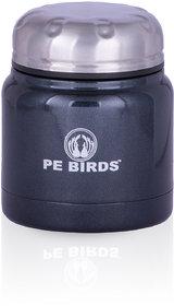PE BIRDS Stainless Steel Double Wall Food Pluto Sambar Jar, 500ml