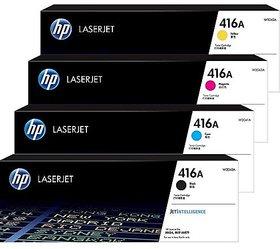 HP 416A Toner Cartridge Pack Of 4 Black Cyan Yellow Magenta For Use Laserjet Pro M454,MFP M479