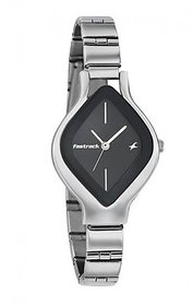 Fastrack Analog Black Dial Women's Watch - NL6109SM02