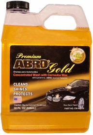 ABRO Concentrated Car Wash with Carnauba Wax Shampoo Cleans, Shines  Protects Vehicle - 946 ml