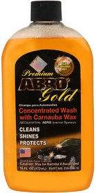 ABRO Concentrated Car Wash with Carnauba Wax Shampoo Cleans, Shines  Protects Vehicle - 472 ml