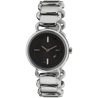 Fastrack Analog Black Dial Women's Watch - NM6117SM01