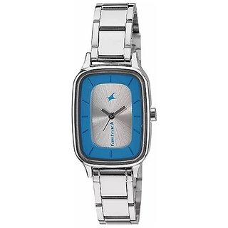 Fastrack Women Analog Silver Dial Watch - NL6121SM01