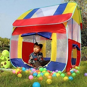 Play Tent House for Kids Playhouse Foldable Kids Children's Indoor Outdoor Pop up Play Tent House Toy (Multicolour)
