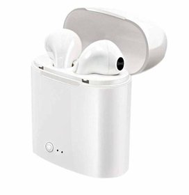 Innotek i7s Twin In the Ear Bluetooth Wireless Earphones with Mic Wireless Bluetooth Earphone Mini Twin Portable  White