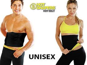 Neoprene Unisex Black Yellow Hot Waist Body Shaper Belt