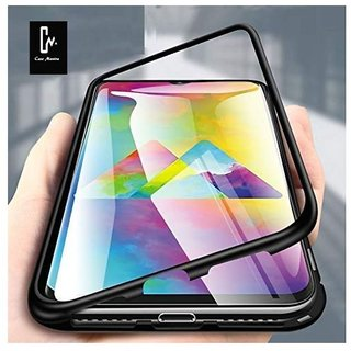 Samsung Galaxy A30s Magnetic Cover Case ClickAway - Black Magnetic Back Cover (Type: Magnetic Cover Case, Color: Black)