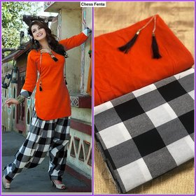 Chess Pure cotton Unstitched Dress Material for Girls and womens