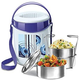 Milton Econa 3 Stainless Steel Tiffin Box (3 Containers) Assorted Colors