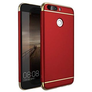 Oppo F9 Pro Plain Cases ClickAway - Red 3 IN 1 Back Cover (Type: Plain Cases, Color: Red)