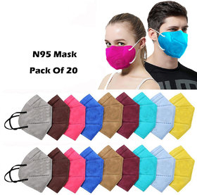 Reusable Multicolour Washable Anti-Pollution Protection face Mask (Orange, Brown,Black) Pack of 3
