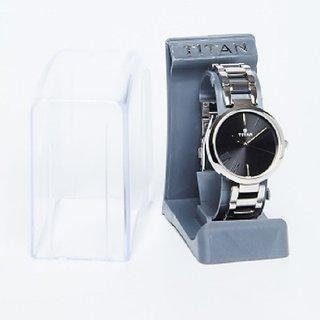 Titan Youth Women Silver Analog Black Dial Watch