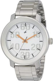 Fastrack Men Analog Silver Dial Watch sky 666