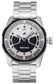 Fastrack Men Round Silver Analog Metal Watch 3099SM02