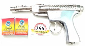 JGG SILVER SHOOTING AIR GUN FREE 200 PELLETS