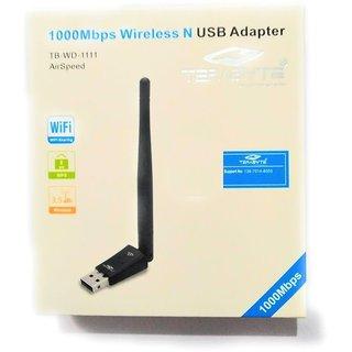 1000 mbps Long Range WIRELESS TB WD 1111 Wi Fi USBAdapter Wireless Adapters