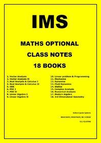 IMS Maths Optional Latest Class Notes