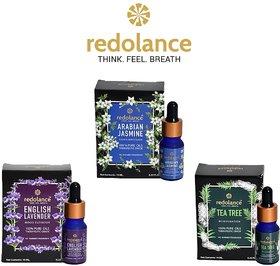 redolance 100 Pure Jasmine, teatree, Lavender Essential Oil