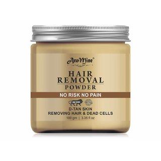 AroMine Organic Hair Removal Powder for Men  Women 100gm