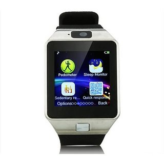 DZ09 Bluetooth 4G Touch Screen Smart Watch Phones with Camera, SIM Card, SD Card Slot Silver