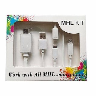 Quality MHL Kit Supported in All MHL Smartphones 6.5 Feet (2M)