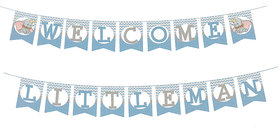 Hippity Hop Welcome Little Man String Banner / Baby Shower Party Supplies/ Baby Shower Party Decoration / Welcome Baby Boy / Welcome Home