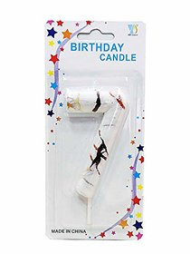 Hippity Hop Numerical No. 7 White Candle With Red