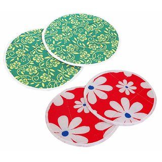 SEGGO Cotton Roti Cover Round Traditional Rumals to Keep Roti/Chapati Fresh (Assorted Color & Designs) Set of 2