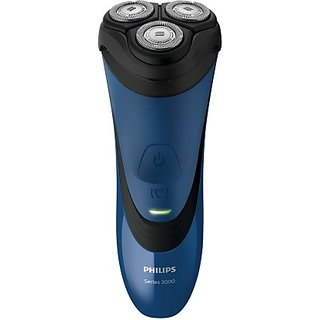 Philips S3350/06 Shaver For Men  (Black, Blue)