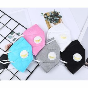 n95 Anti-Pollution mask Dust Protection Pack of 5 colour