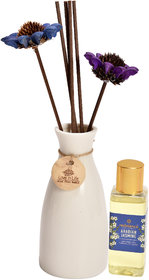 redolance scented reed diffuser JASMINE oil 50ml ceremic pot white colour LBH (INC) 2.5X2.5X5 for home, office and spa D