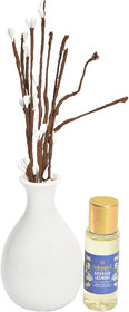 redolance cented reed diffuser Jasmine 30ml oil ceremic pot white colour LBH (INC) 2.5x2.5x4 for home, office and spa. D