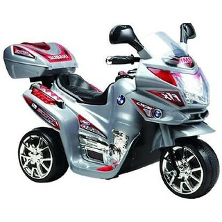 ''Oh Baby'' Baby Battery Operated Bike With Musical Sound And Back Basket 3-Wheel  Battery Operated Ride On Bike  With M