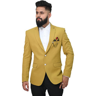 MR. DULHA - Men's Slimfit Blazer with Accessories (Double Chain Brooch)