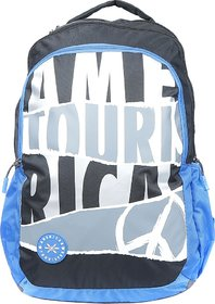 American Tourister QUAD 03 35 L Backpack  (Black, Blue, Grey)