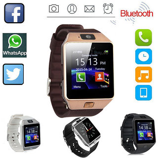 DZ09 Bluetooth Smart Wrist Watch with CameraSim TF Card Support for AndroidiOS Smart Phone Gold Smartwatch By TSV