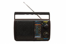 Santosh Five Band Portable FM Radio- 2 Batteries Required (Models May Vary)