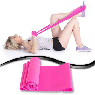 House of Quirk Yoga Bands xercise Stretch Perfect for Tone Legs Ankle Arms Thigh Gym - Pink