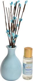redolance scented reed diffuser lemongrass oil 50ml ceremic pot blue colour LBH (INC) 3x3x5 Diffuser Set